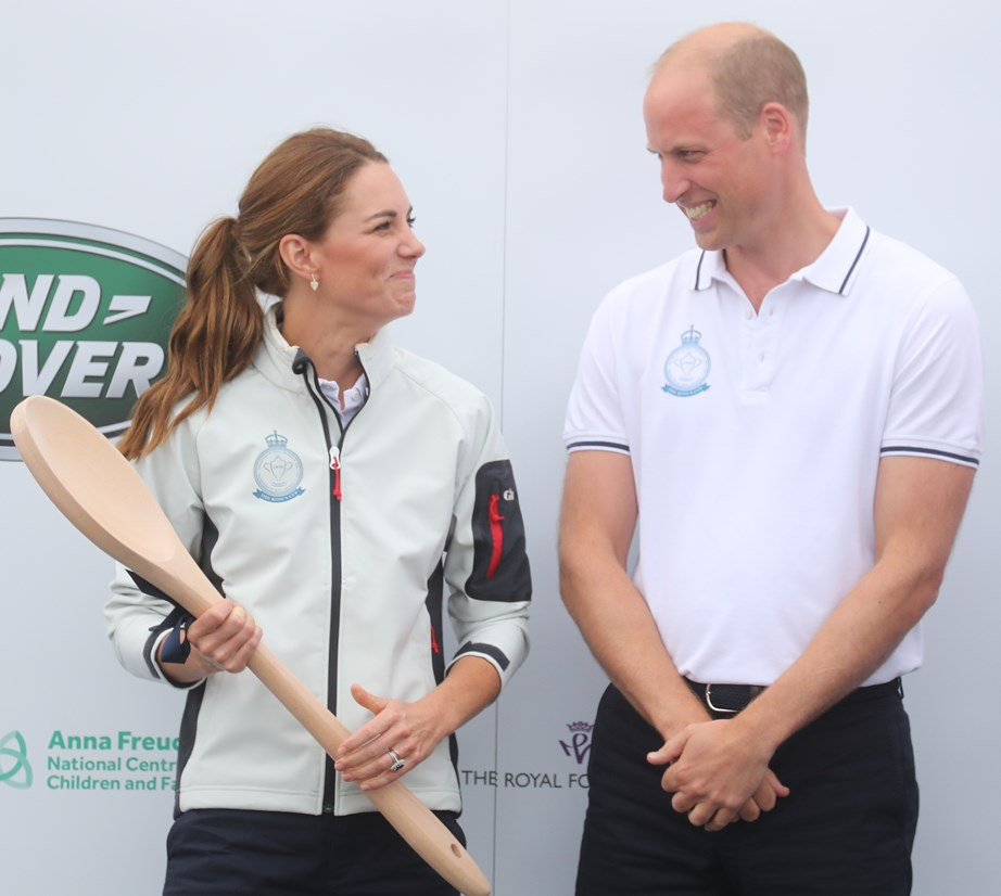 While Kate didn't looked too chuffed to be awarded a wooden spoon, William certainly looked like he was happy about it. *(Image: Getty)*
