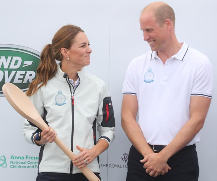 Kate with her GIANT wooden spoon trophy - hilarious!