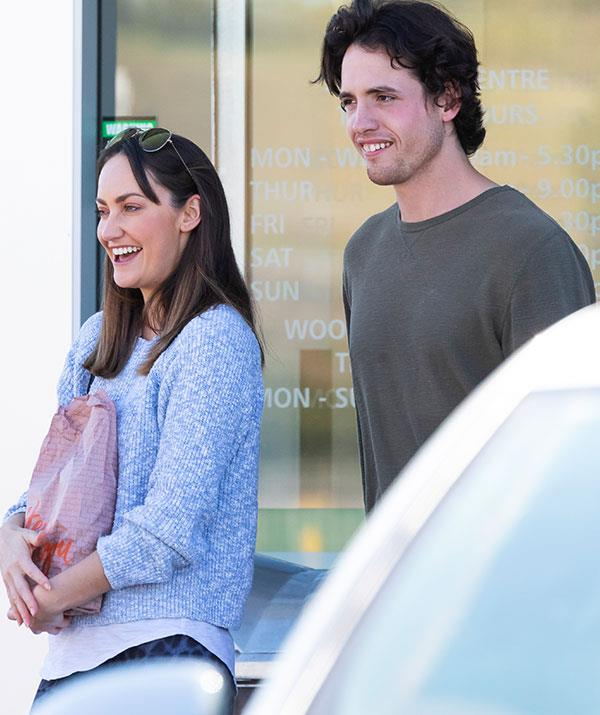 Emma was seen with a handsome companion.