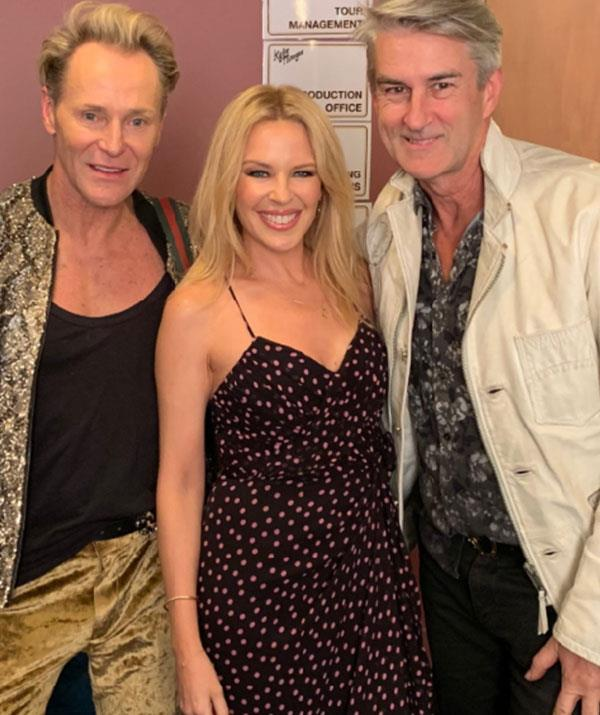 Kylie Minogue pops in for a visit.