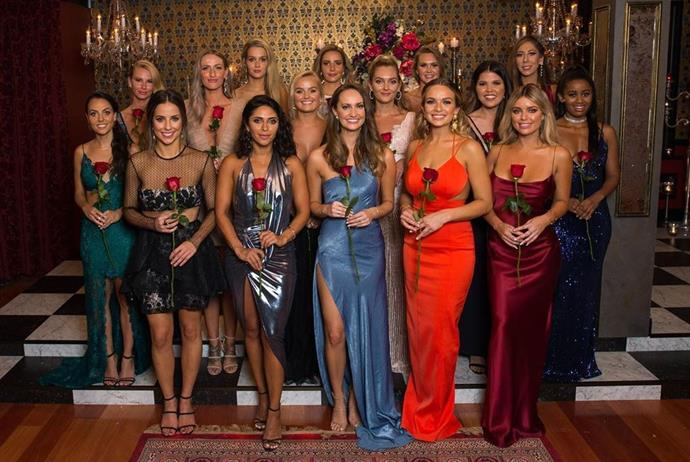 The stunning beauties of the Bachelor mansion.