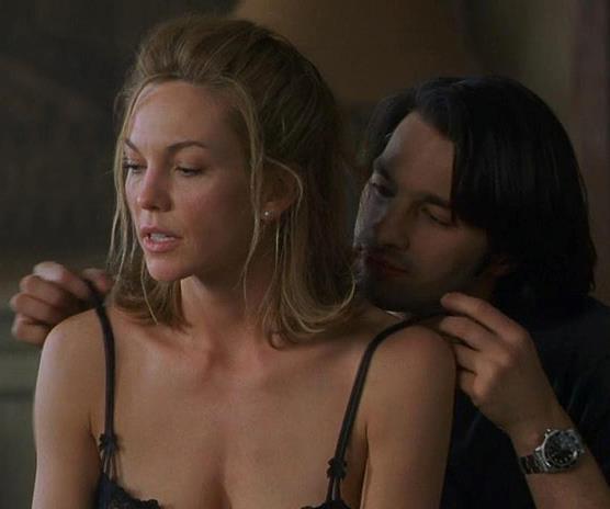 Diane Lane cheats on Richard Gere in the 2002 film *Unfaithful*.