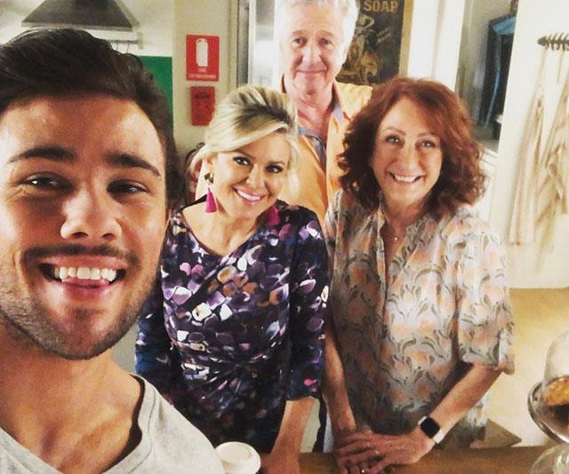 Lynne with her *Home and Away* co-stars.