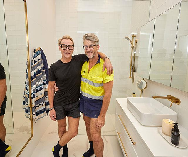 **Mitch and Mark** Score: 27.5/30 The experienced house flippers appear to be the team to beat as  they delivered yet another stunning room. The judges liked the luxurious feel of the hotel-style bathroom and likened it to something out of 1940s Hollywood.