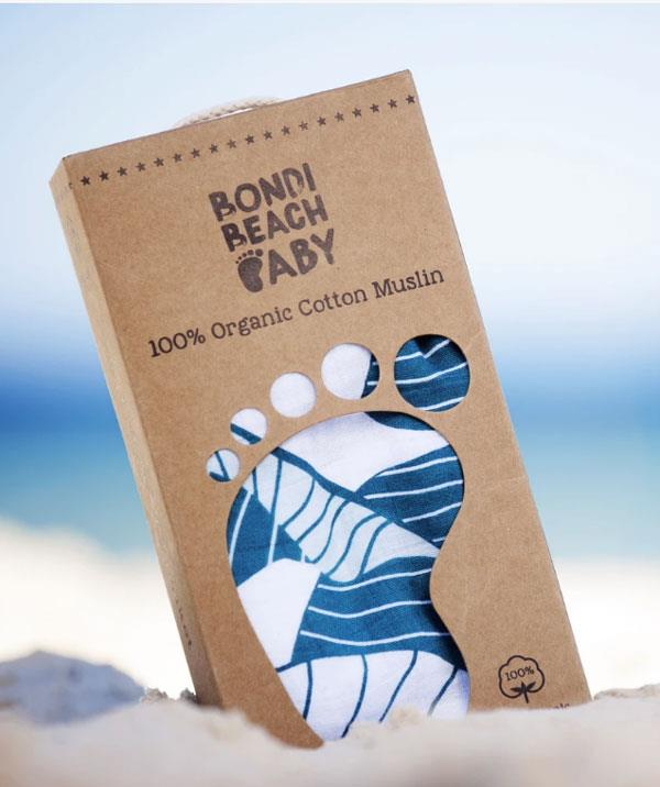 "**Bondi Beach Baby: Palm 100% Organic Cotton Muslin Swaddle**   ""We have got about 7000 muslin wraps but this brand, Bondi Beach Baby is my favourite because they are massive,"" reveals Laura. ""You can actually burrito your baby. I like that they are so long and you can Houdini your child."""