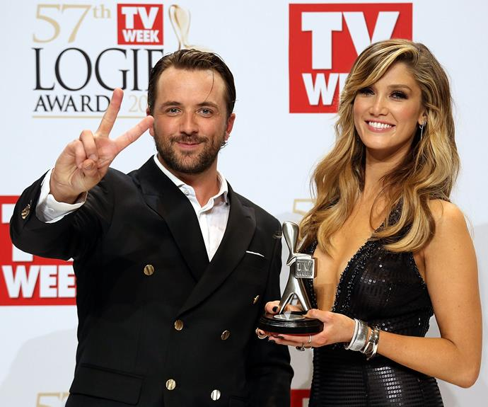 The duo pictured at the 2015 Logie Awards together.