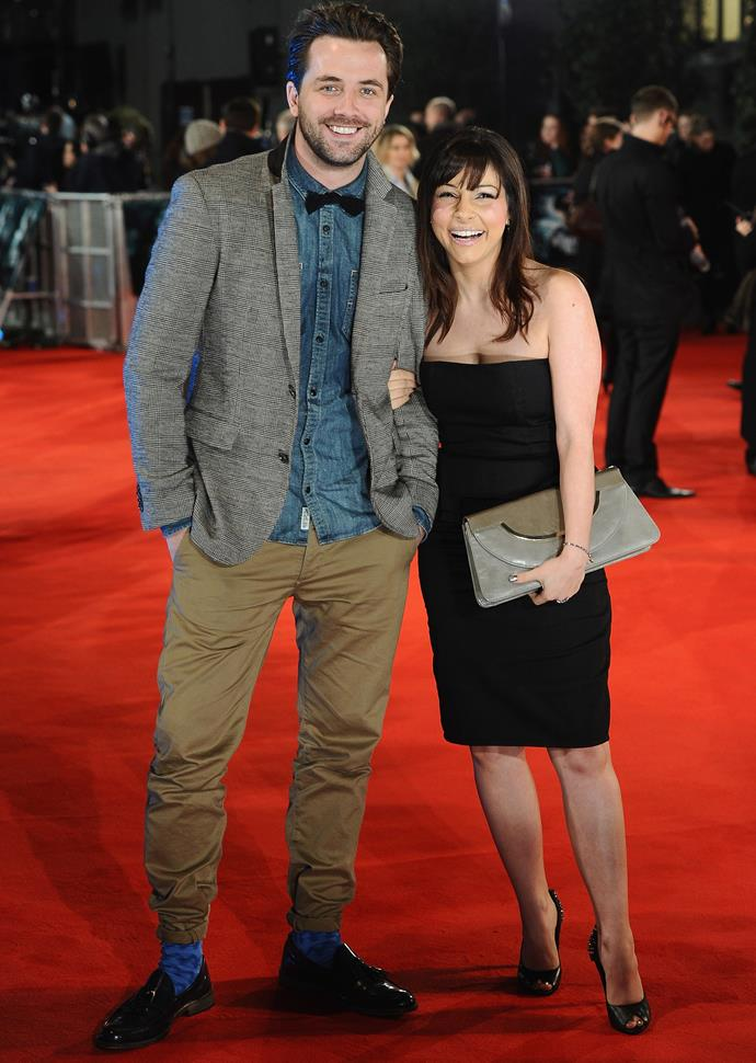 Darren and Roxanne at a film premiere in January 2012.