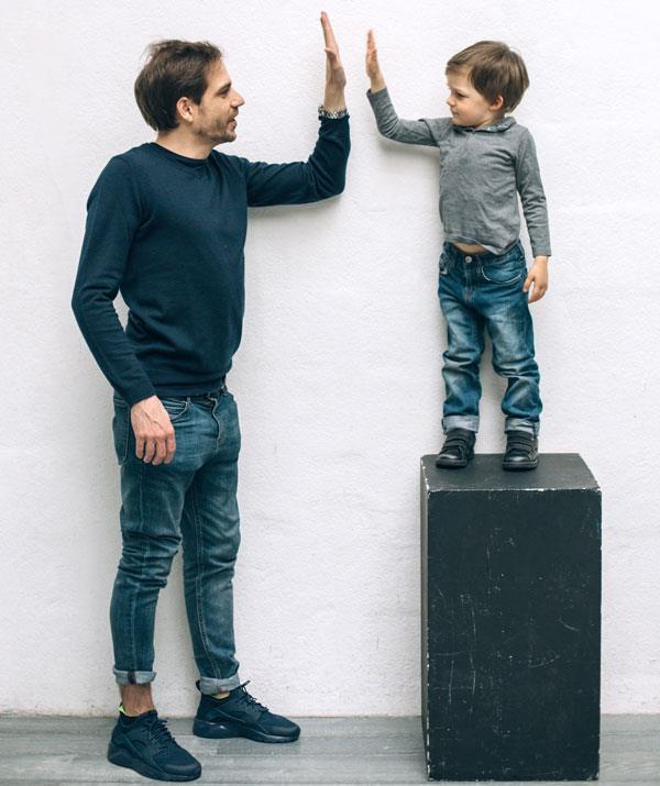 Teach your child options, like 'Do you want to hello, high-five or hug grandma?'