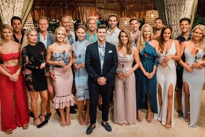 Jared with his Aussie *Bachelor in Paradise* cast members.