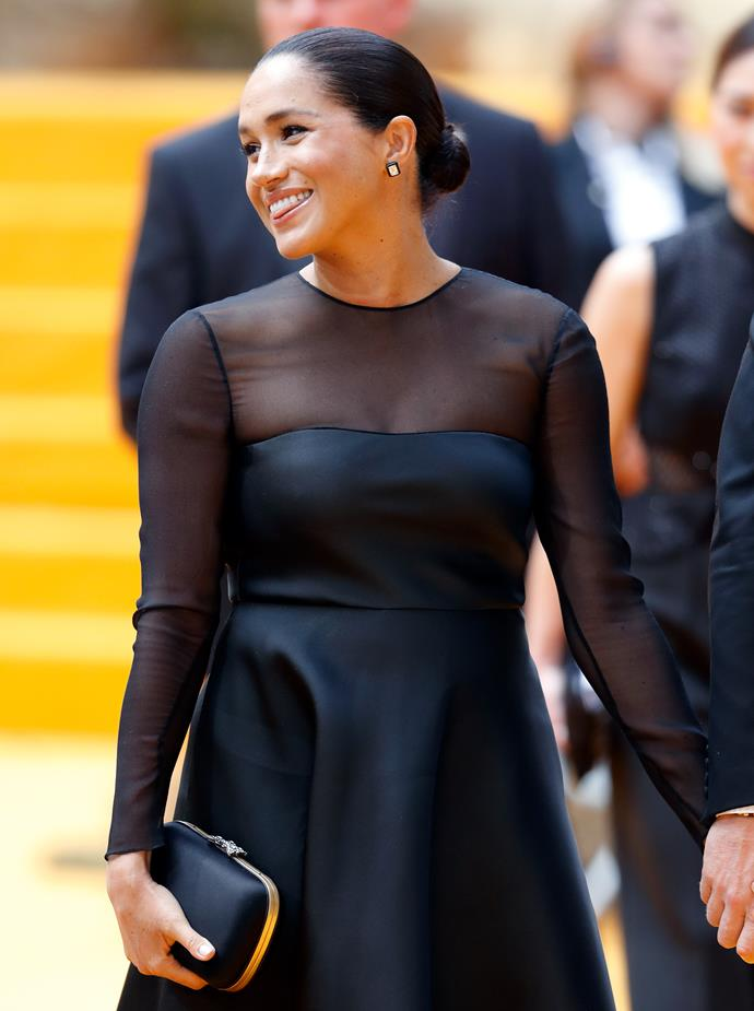 Meghan looked radiant at a recent red carpet premiere in London.