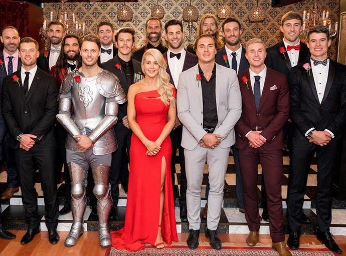 Ali Oetjen and her suitors from *The Bachelorette* 2018.