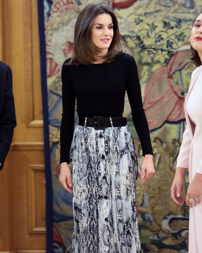 All hail Queen Letizia!
