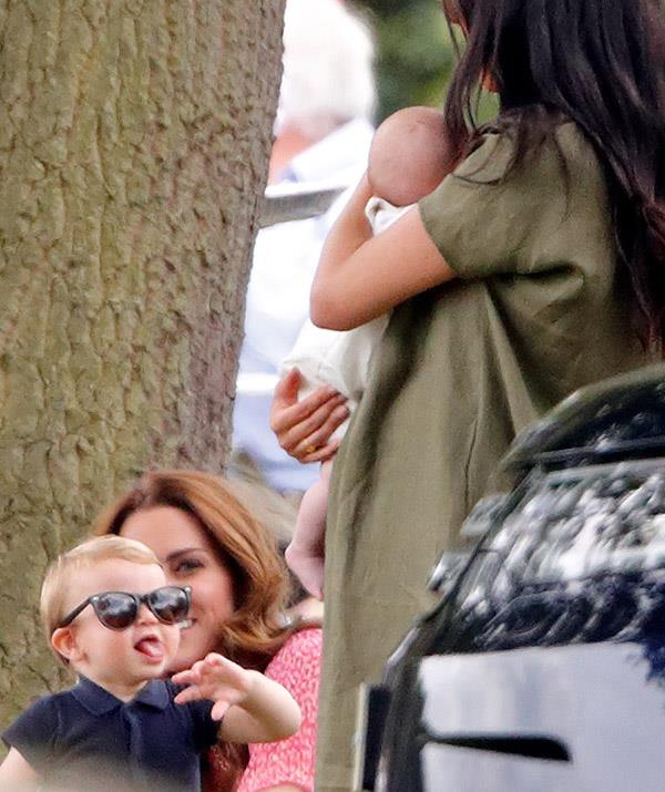 And Prince Louis is up there with George and Charlotte when it comes to the new generation of tongue sticker out-ers - he was seen at the polo in 2019 pulling all kinds of hilarious faces to aunty Meghan.