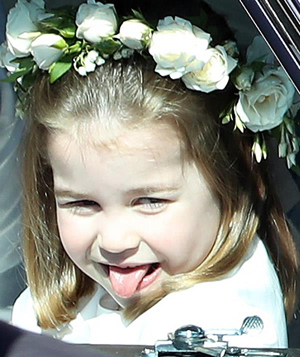 "And young Charlotte definitely takes after her uncle - she was again spotted [poking her tongue out](https://www.nowtolove.com.au/royals/british-royal-family/princess-charlotte-birthday-photos-55422|target=""_blank"") at Harry and Meghan's royal wedding back in May 2018."