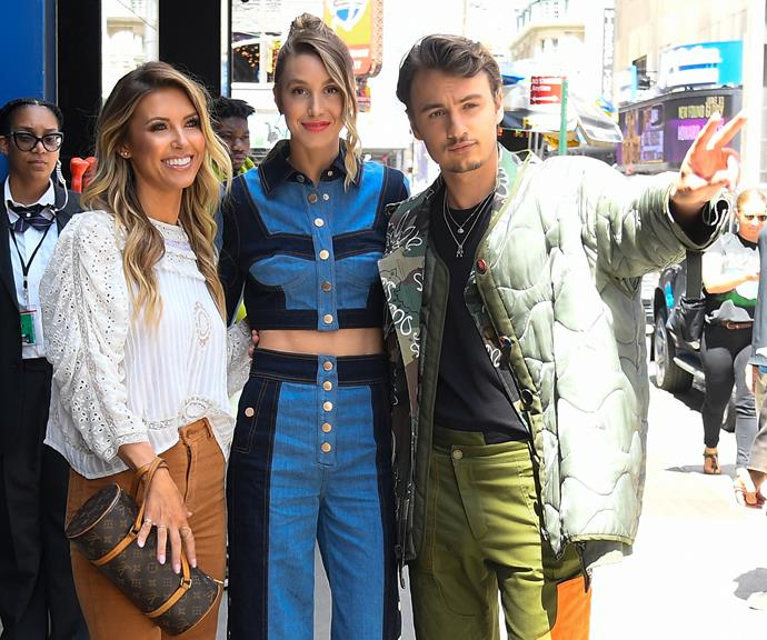 Brandon Lee (right) with his *The Hills* co-stars Audrina Patridge and Whitney Port.