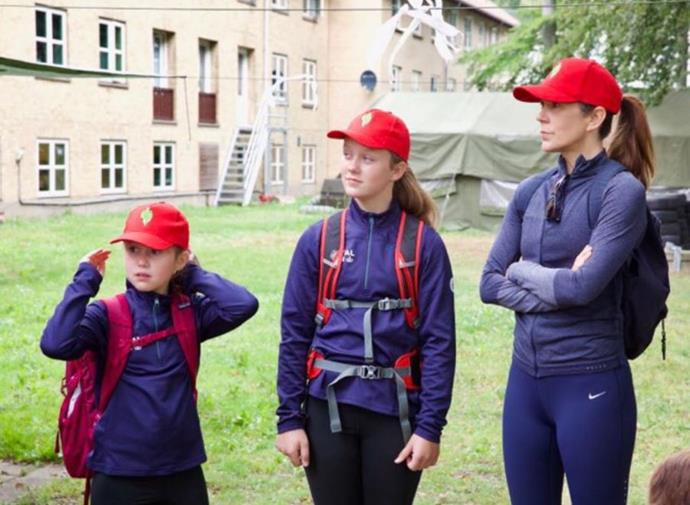 Princess Mary and her daughters donned their activewear for a family adventure.
