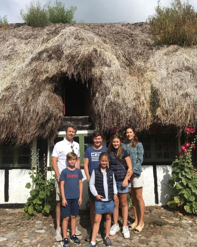 The family of six soaked up the sun on their 2019 summer holiday.