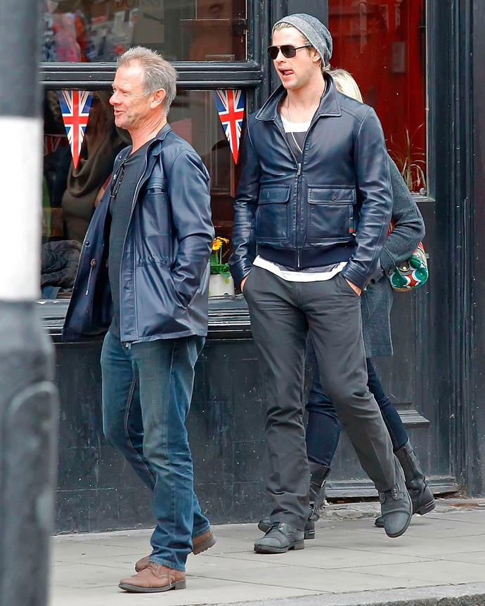 Every man needs a leather jacket! The Hemsworths started morphing into each other on this day.