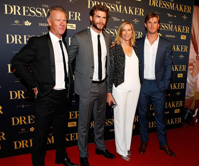 Craig, Liam, Leonie and Chris all turned out to support Liam during the premiere of his 2015 film *The Dressmaker*, alongside Kate Winslet.