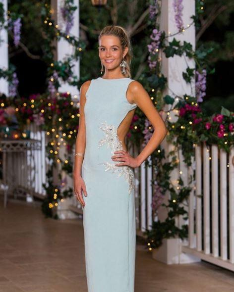 Beautiful Helena looks heavenly in this Amy Taylor dress - love the colour!