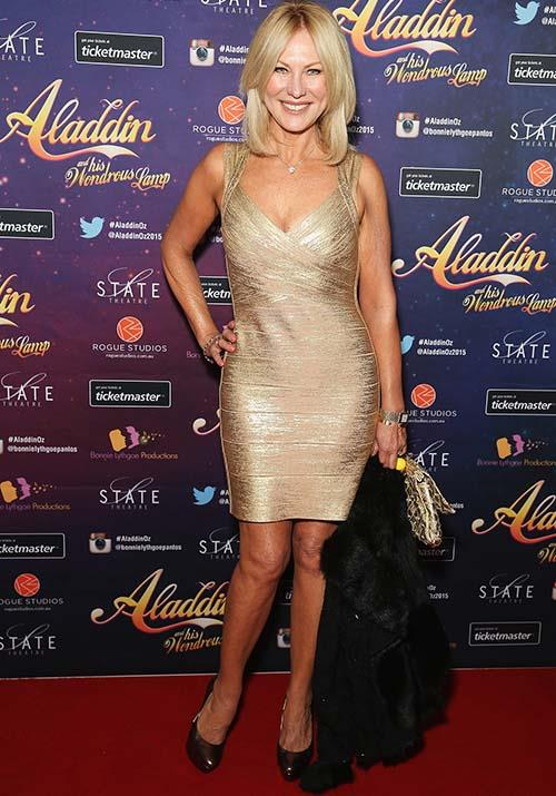 And the beautiful blonde had another golden moment when she attended the opening night of *Aladdin And His Wondrous Lamp* in 2015.