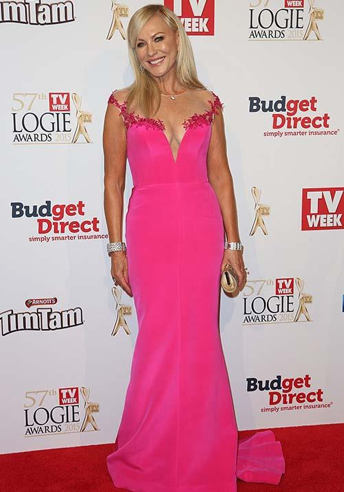 And her Logies look that same year was just as stunning - how fab does she look in pink!