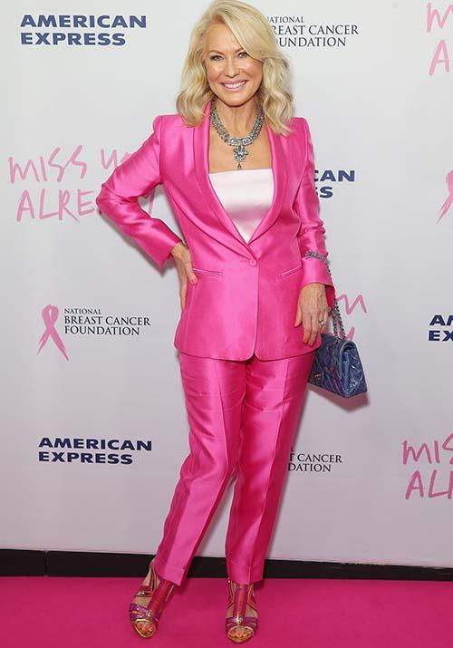 In a *Legally Blonde* moment we'll never forget, this pink pant-suit on Kerri-Anne at the 2015 *Miss You Already* gala premiere made a style statement for the ages.