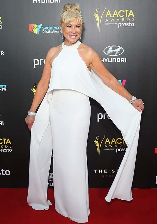She's never shy of a fashion surprise! Kerri-Anne's flowy white jumpsuit worn at the 2015 AACTA Awards was chic as ever.