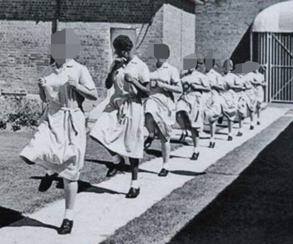 Me ( 2nd from left) at the girls' institution
