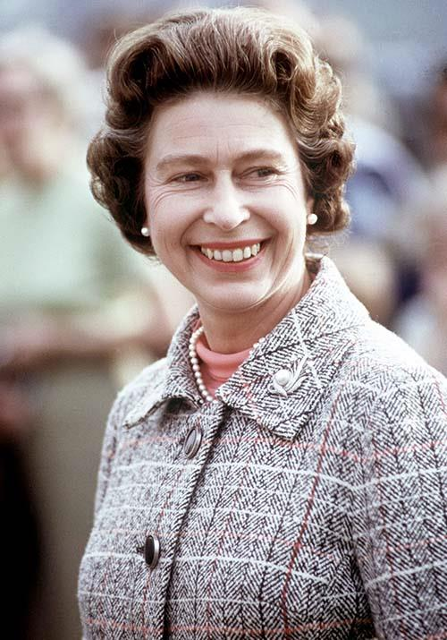 **Queen Elizabeth** <br><br> We might all know Queen Elizabeth with her trademark silvery white curls, but in the 1970s, Her Majesty was rocking a serious brunette 'do. So how does our next *Crown* Queen pull it off?