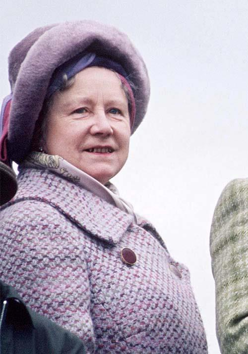 **The Queen Mother** <br><br> The always-poised Queen Mother was previously portrayed by English actress Victoria Hamilton in season one and two of *The Crown*.