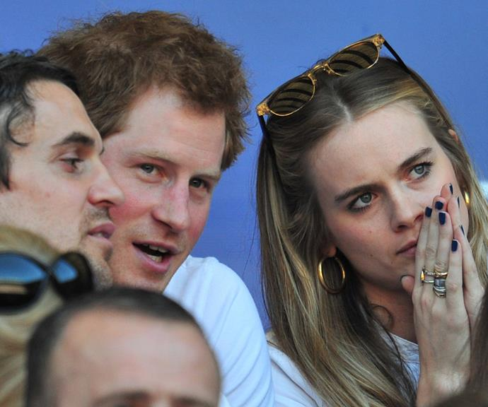 Harry and Cressida pictured at a rugby match in 2014.