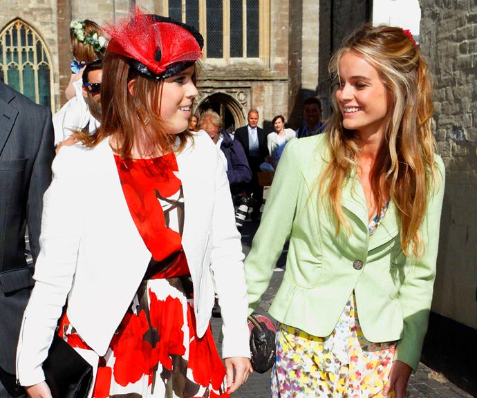 Princess Eugenie (left) with Cressida, who reportedly introduced her friend to Prince Harry.