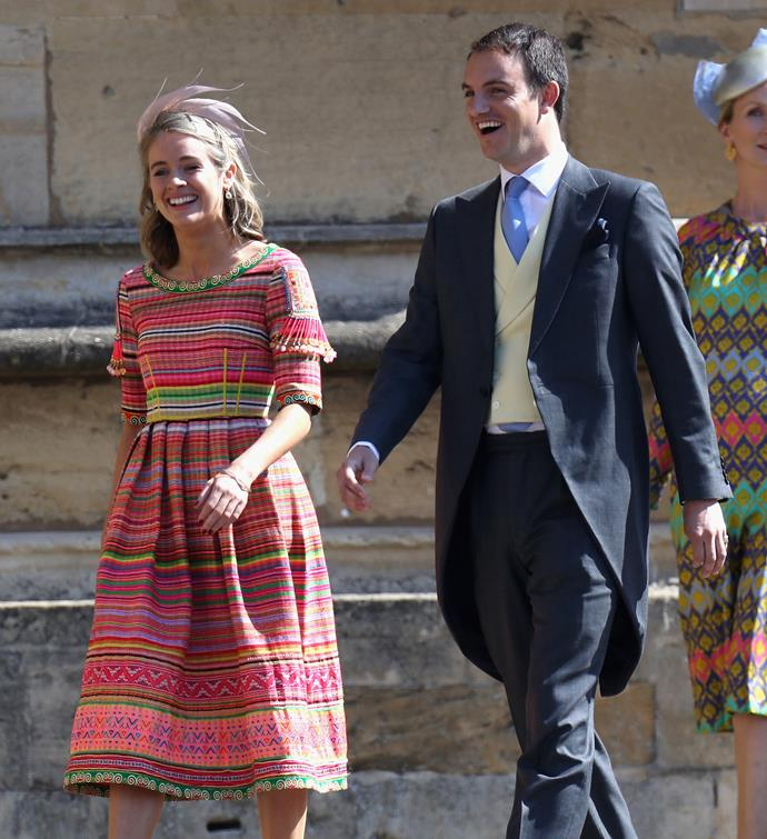 Cressida looked happy and relaxed at Harry and Meghan's wedding in 2018.