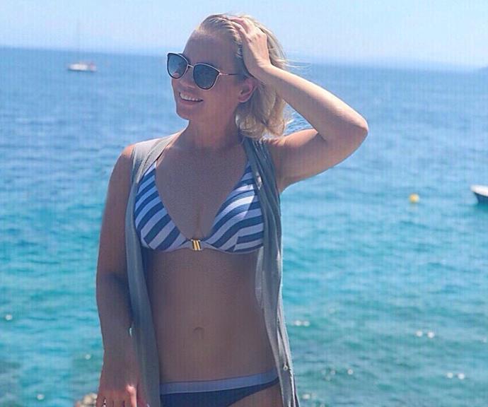 Rocking a bikini (and a killer set of abs!) on holidays in Croatia.