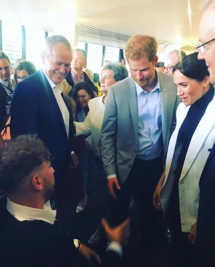 Dylan met the Sussexes in October last year during their royal tour.