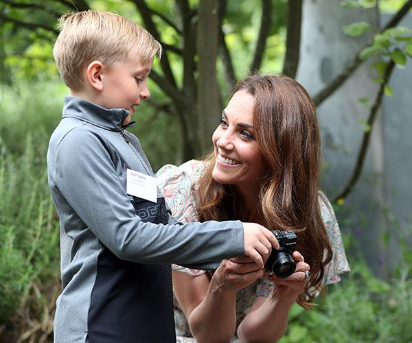 The Duchess spent time with nine-year-old Josh among other young shutterbugs.