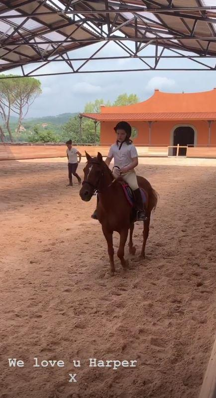 Harper is a natural when it comes to horse riding.