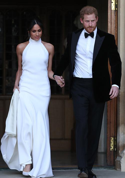 Notice the similarities between Meghan's heavenly Stella McCartney creation and the above gown picked out by Mulroney for one of her clients?