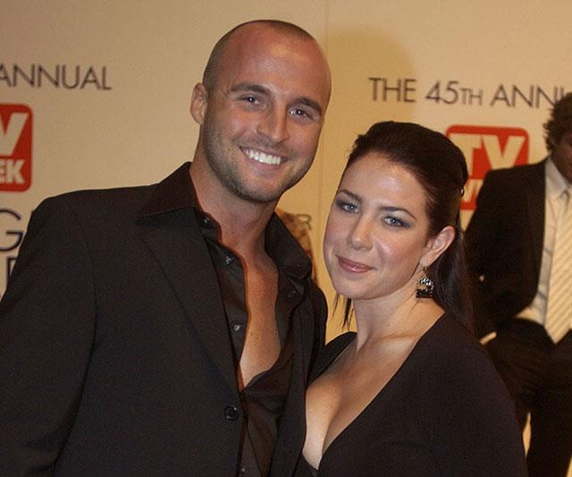 Ben Unwin pictured with co-star Kate Ritchie at the 2003 *TV WEEK* Logie Awards.