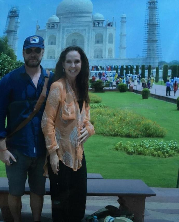 Jeff and Janine smile for the camera at the iconic Taj Mahal.