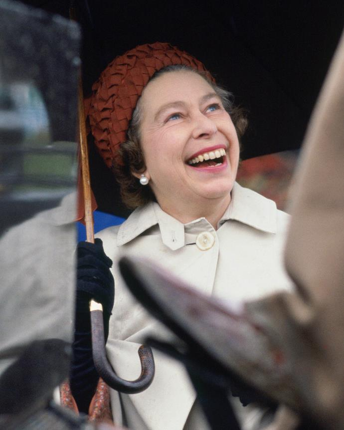 That smile ... The Queen in her element at the Royal Windsor Horse Show in 1978.
