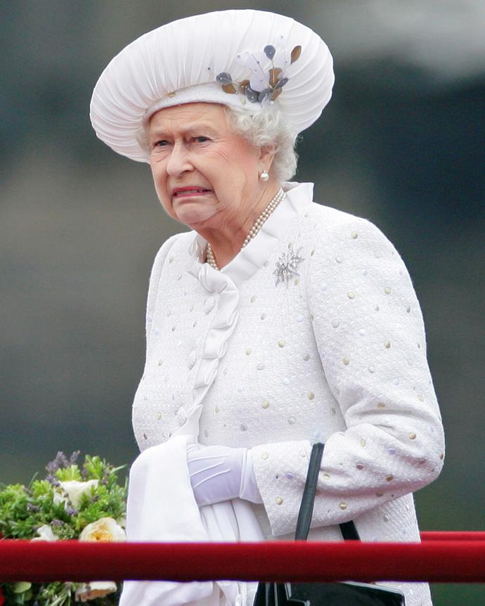 We wonder who Her Majesty made this face about!