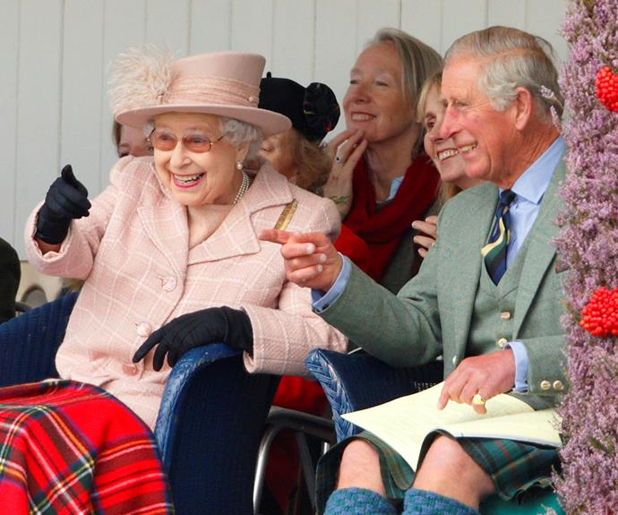 Pictured here with Prince Charles in 2013 while watching the annual Braemar Highland Games in Scotland, the mother-son duo shared a sweet moment together.