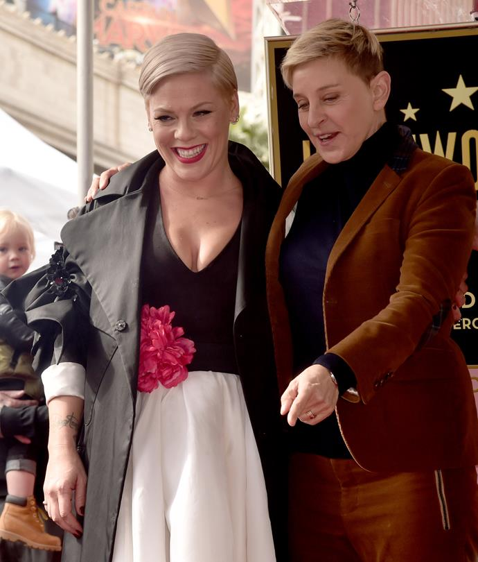 Pink took Ellen DeGeneres and Elton John's lead by also throwing her support behind the royals.