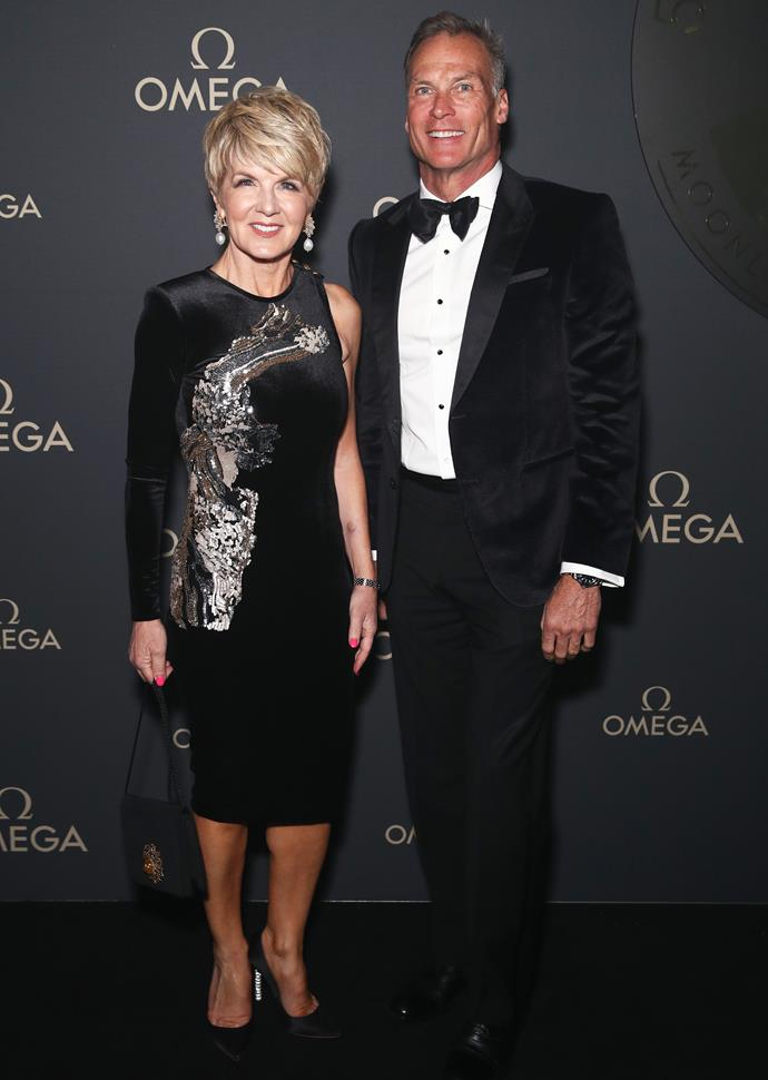 Julie and her partner David Panton on the red carpet.