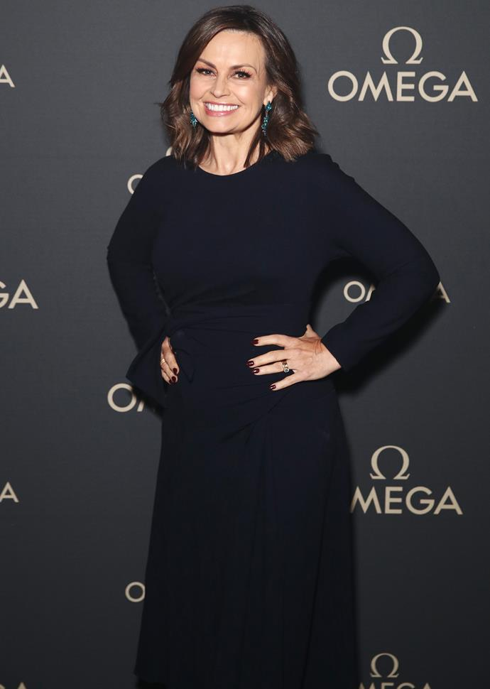 Lisa Wilkinson looked stunning in a classic black dress at the event.