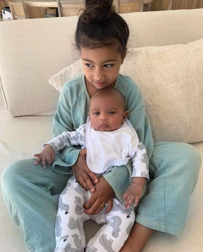 North and Psalm looked too cute as they cuddled on the couch.