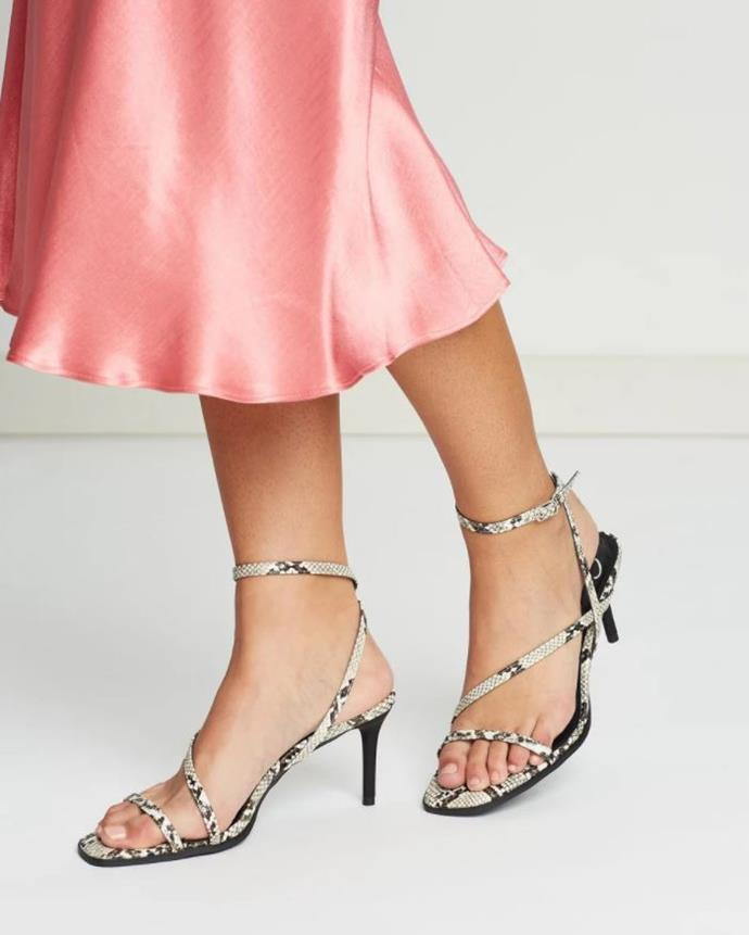 "Snakeskin is making a serious comeback along with the square-toe trend this season, and these Spurr Jennifer Heels are case in point. Available for $59.99 via [The Iconic](https://www.theiconic.com.au/jennifer-heels-832227.html|target=""_blank""