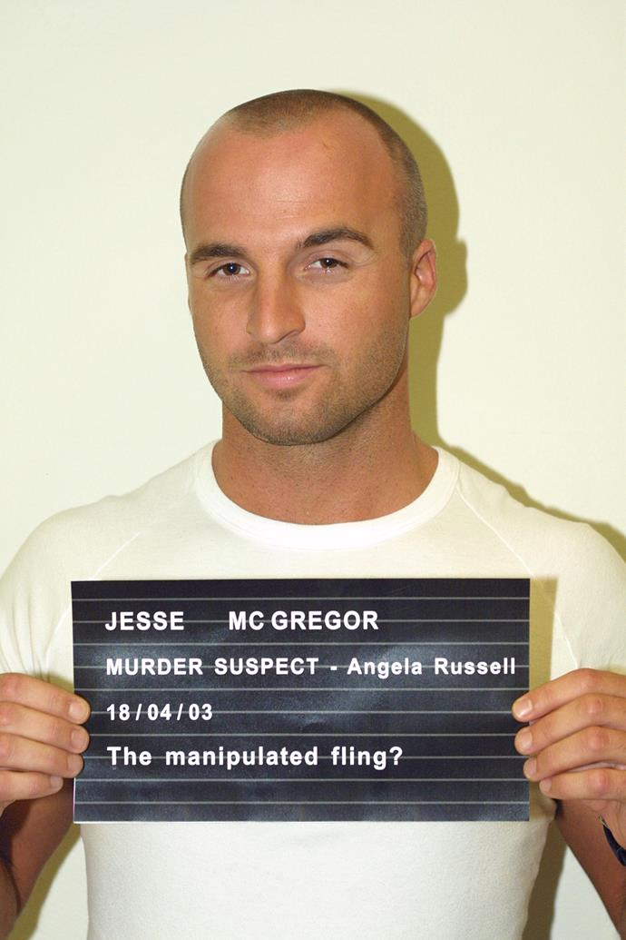 Also making things difficult in Jesse's life during that time: being falsley accused of murder! Jesse was considered a suspect after his former girlfriend Angie Russell (Laurie Foell) was found dead. The murderer was revealed to be her son Dylan (Brett Hicks-Maitland).